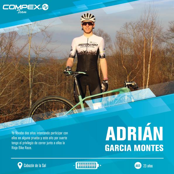 Adrián Garcia 1r componente del Compex Team en la Rioja Bike Race