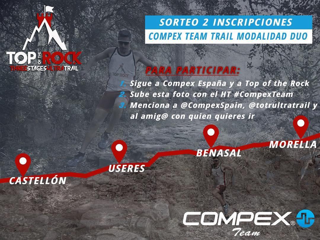 Bases Legales para el concurso Compex Team en Top of the Rock Ultra Trail 2020