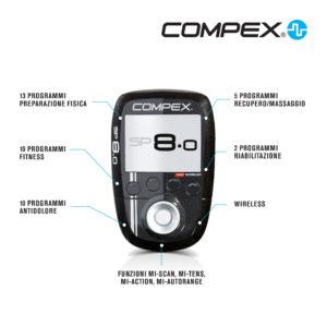 L'elettrostimolatre Compex più completo e tecnologico.