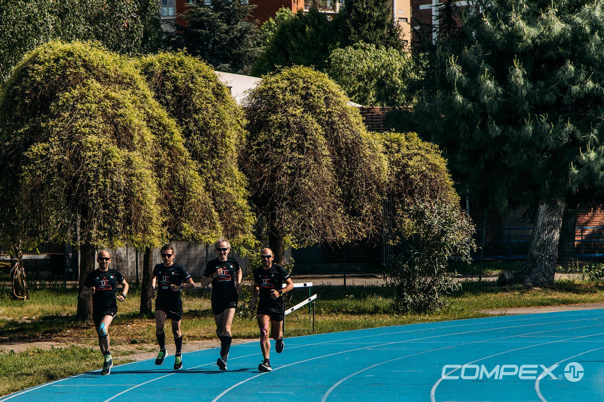 Gli allenatori del Team Compex alla Maratona di Milano 2020