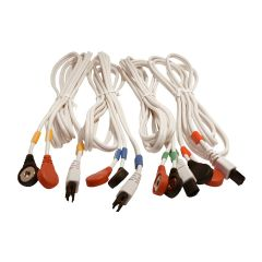 COMPEX SET OF 4 CABLES - 6P SNAP - WHITE