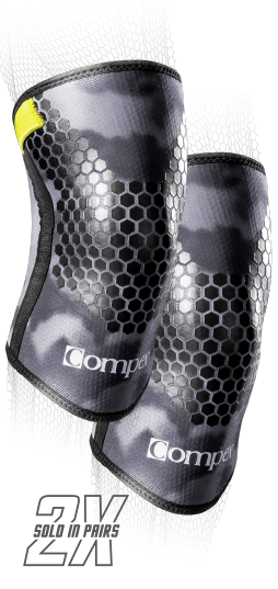 5mm Compression Sleeve Camo Knee Support For Weightlifting Compex Uk
