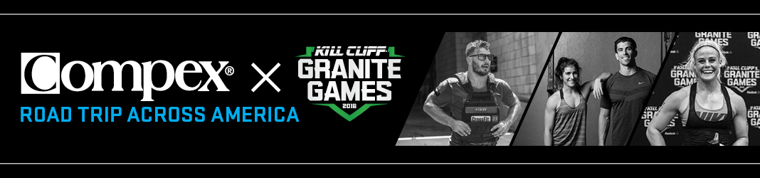 Compex Official Partner of the Kill Cliff Granite Games