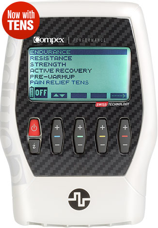 Compex Performance Tactical White Muscle Stimulator + TENS