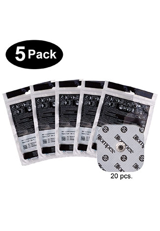 Compex Easy Snap Electrodes - 2in x 2in White - 5 Pack