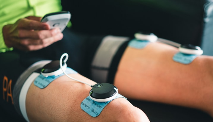 Compex Muscle Stim in use for Recovery