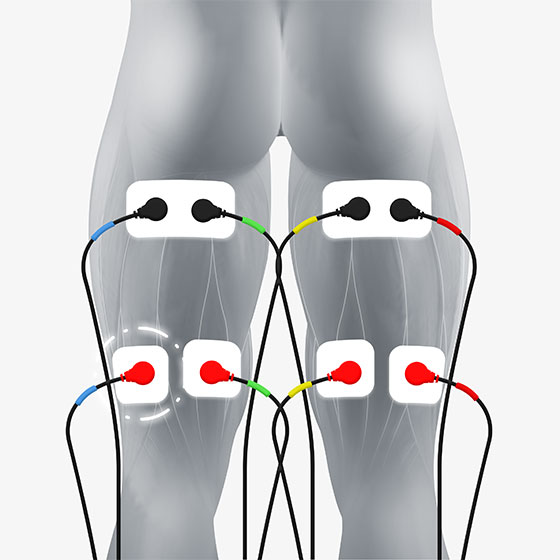 hamstring electrode placement